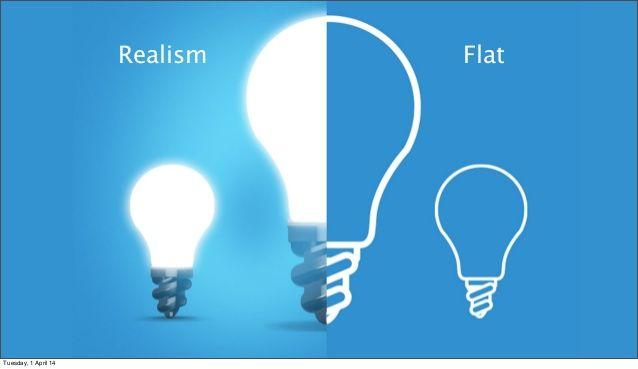 flat design vs realism - Buscar con Google