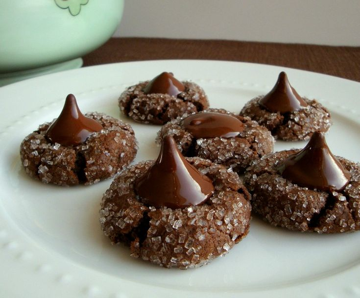 Chocolate Kiss Cookies. Like decadent brownie bites, top with your favorite Hershey's Kiss.
