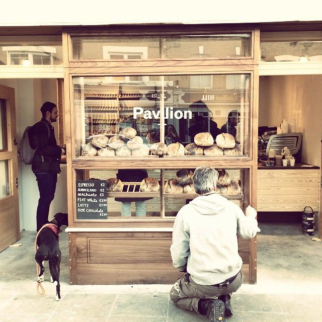 Beautiful new Pavilion Bakery on Broadway Market serving Square Mile - check that Black Eagle winking on the counter