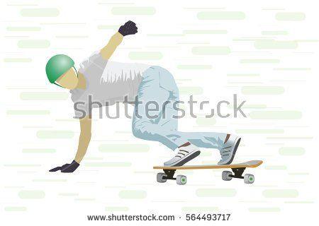 Teenage boy. Skater doing tricks.