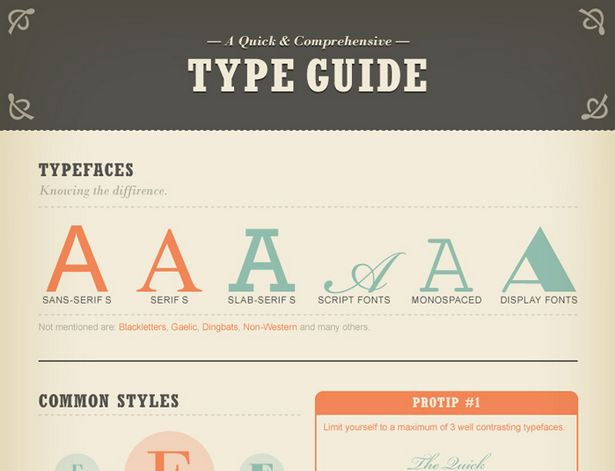 type 10 Useful Design Cheat Sheets