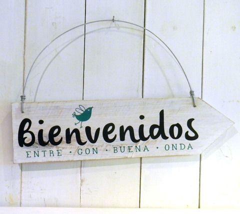 Letreros vintage | BIENVENIDOS PAJARITO - comprar online
