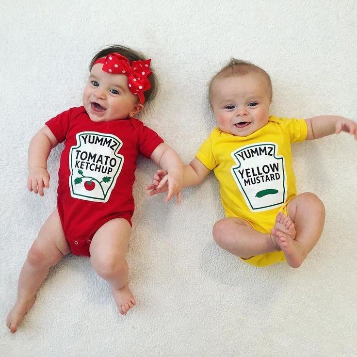 Boy girl twins. outfits by Buzz Bear Studio.