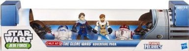 Amazon.com: Star Wars 2011 Exclusive Playskool Jedi Force The Clone Wars Adventure Pack: Toys & Games