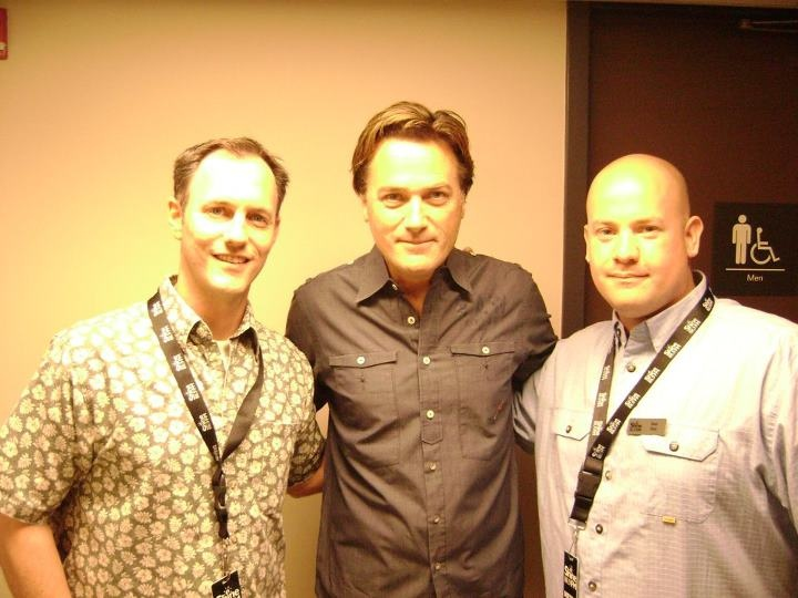 Les Moore and Brad West from 88.9 Shine FM meet Michael W Smith