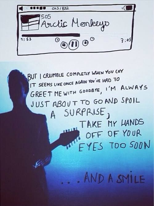 "Arctic Monkeys - 505 ||| This is probably the coolest ""505"" fan art I've seen."