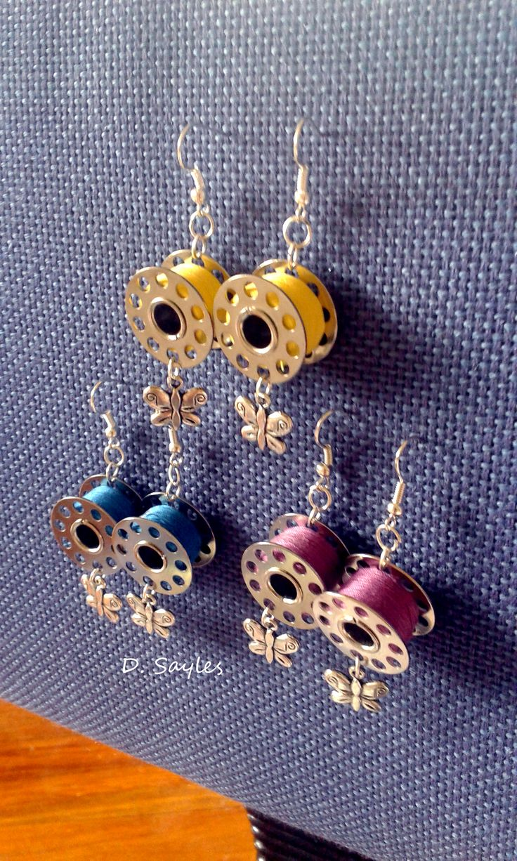 Today I got my #DIY on and created these cute Bobbin Butterfly earrings #fashion