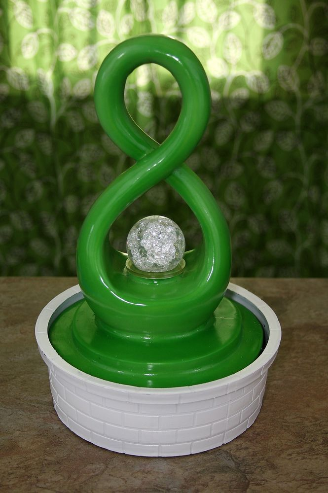 Feng Shui Figure Eight 8 Indoor Water Fountain With
