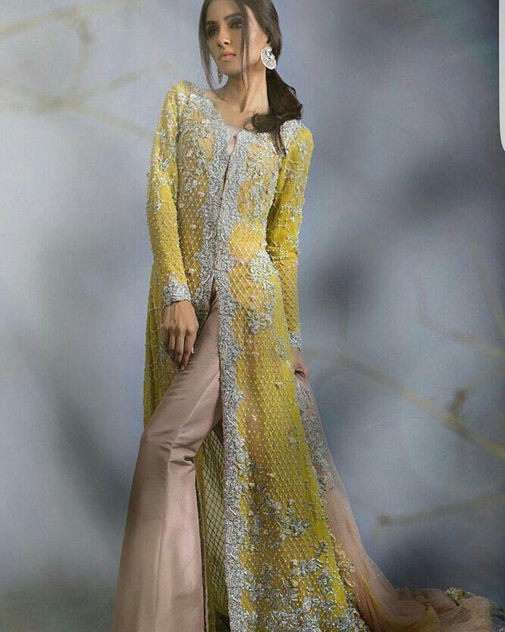 Sana Safinaz , yellow and beige