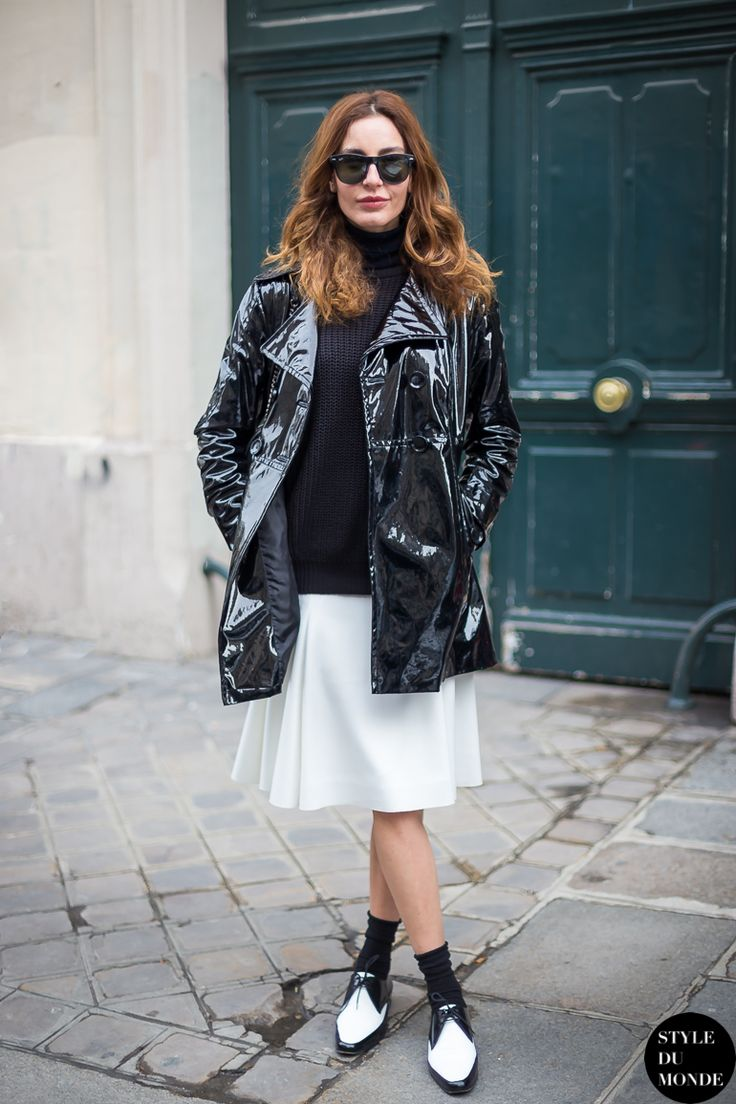 Love this black and white look // #StreetStyle