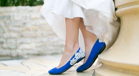 Pantofi de mireasa fara toc