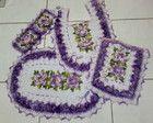 Jogo de Banheiro em croche 4 peças Luxo