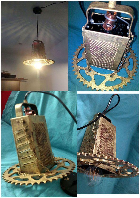 lampadario steampunk bronzo antico design vintage moderno facebook ...