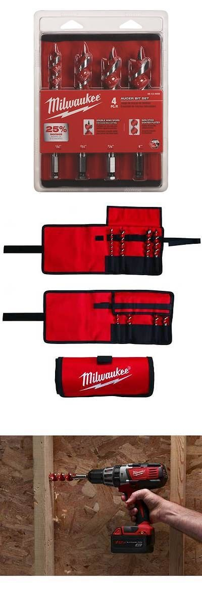 Drill Bits 50382: Milwaukee 48-13-4000 4 Piece Auger Bit Set -> BUY IT NOW ONLY: $35.61 on eBay!