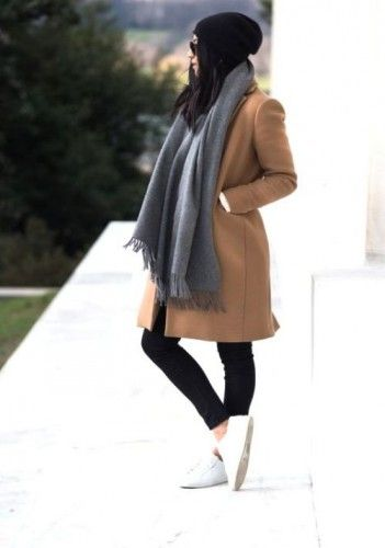 camel coat sporty style, Sporty casual street style looks http://www.justtrendygirls.com/sporty-casual-street-style-looks/