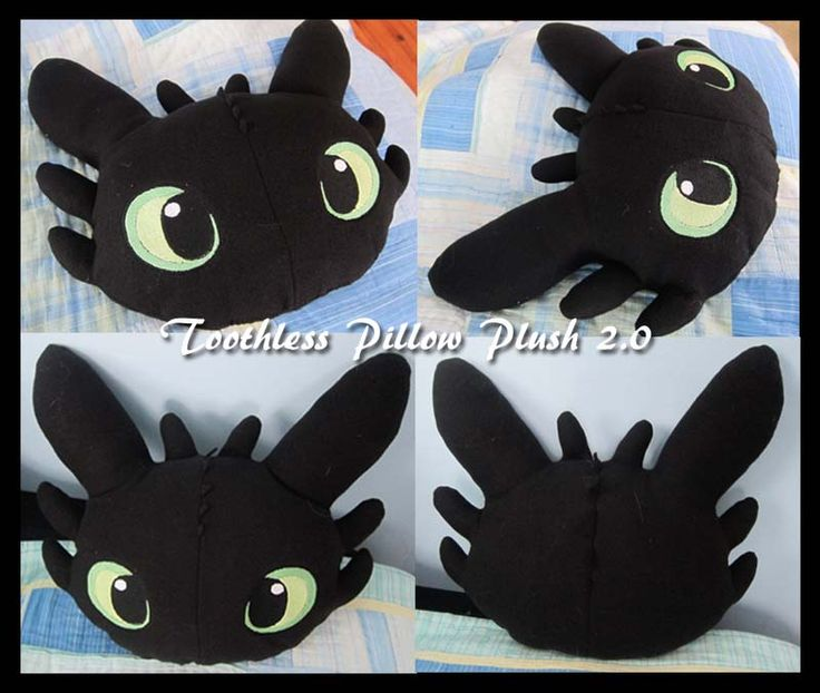 Toothless Pillow Plush 2.0 by PokemonMasta.deviantart.com on @deviantART How to Train your Dragon