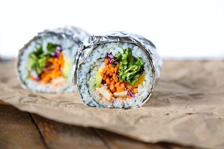 Sweet Chili Rainbow Sushi Burritos   Gluten-free, Vegan, Oil-free   The Plant Philosophy