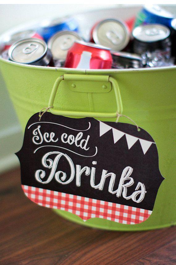 Printable ice cold drink label  by PrettiestPrintShop on Etsy, $6.00
