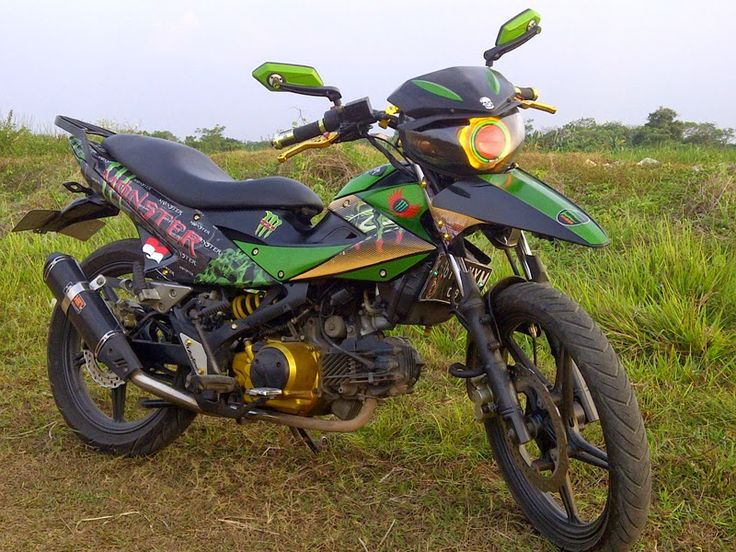 modifikasi kawasaki athlete jadi trail