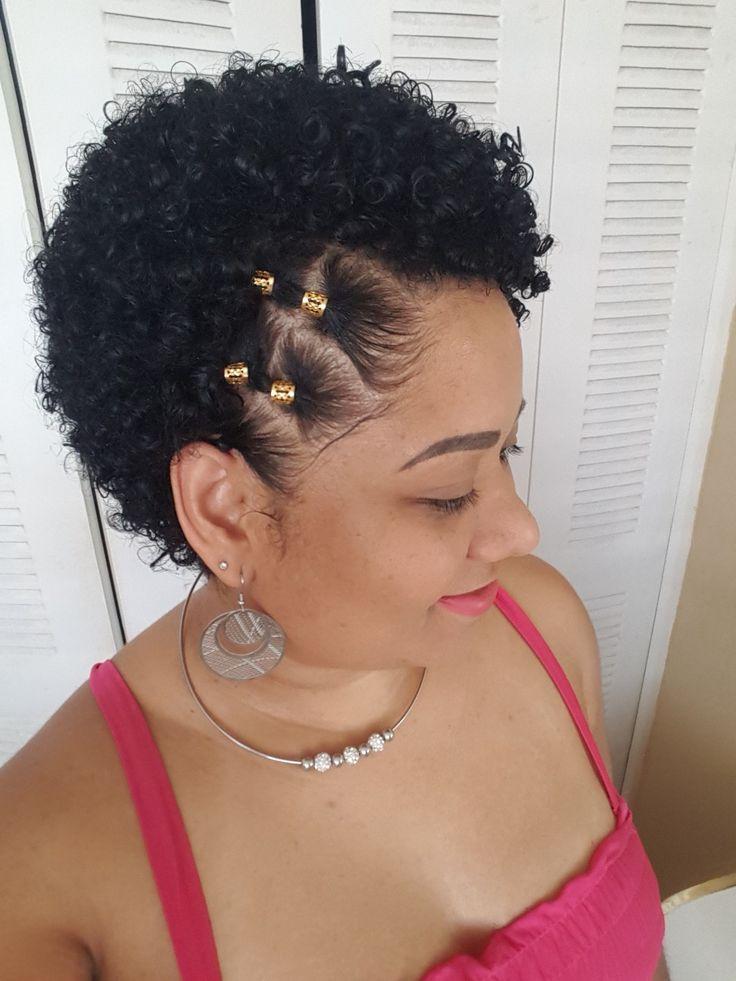 Peinado Para Cabello Corto Rizado O Afro Peinados Poco