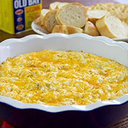 Rich, creamy and advertising large chunks of sweet, succulent crabmeat, this dip never fails to attract new fans.