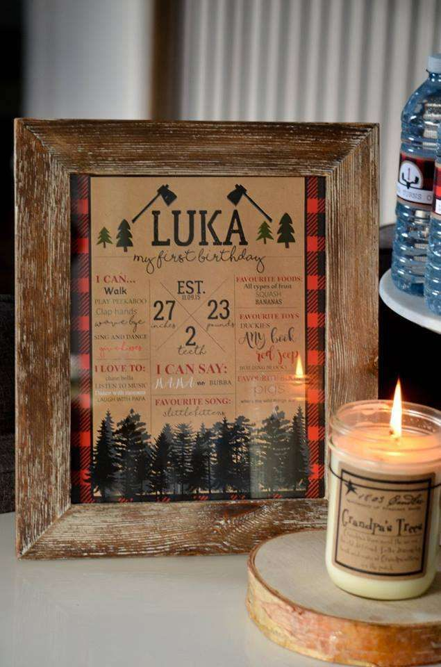 Luka's first Lumberjack Bash | CatchMyParty.com