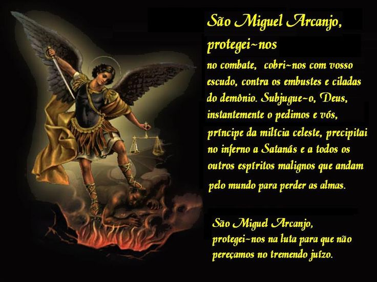 ww.reza dos mal maus.com | para vocês, três wallpapers de São Miguel Arcanjo.