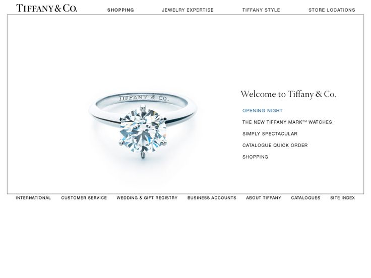Travel with us through the history of web design and look at how Tiffany website looked in 2002.