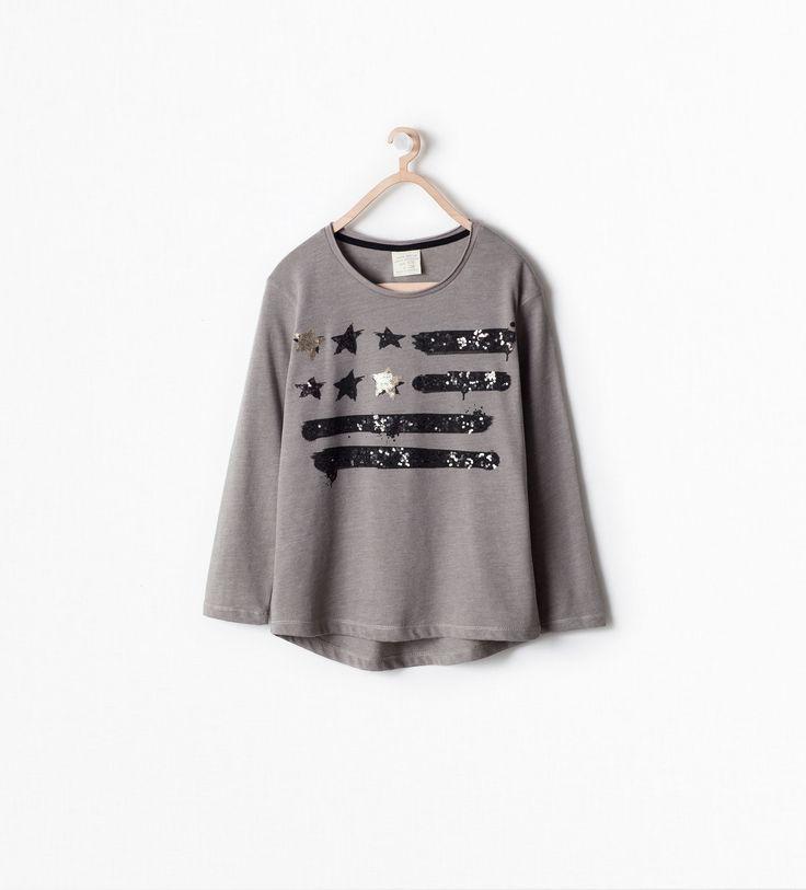 T - SHIRT BANDEIRA AMERICANA - T - shirts - Rapariga - CRIANÇAS - SALDOS   ZARA Portugal