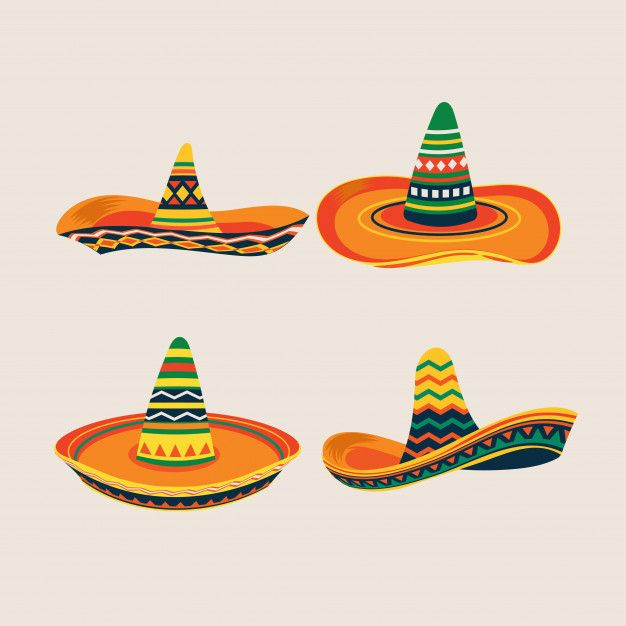 Set Of Mexican Sombrero Hat Illustration Mexican Sombrero Hat Mexican Sombrero Hat Illustration