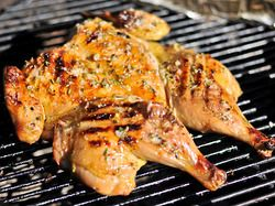 Grilled Chicken Under a Brick with Lemon, Garlic, and Rosemary   Serious Eats : Recipes