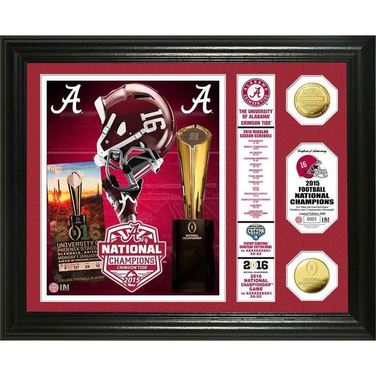 "Alabama 2015 College Football National Champions ""Banner"" Coin Photo Mint"