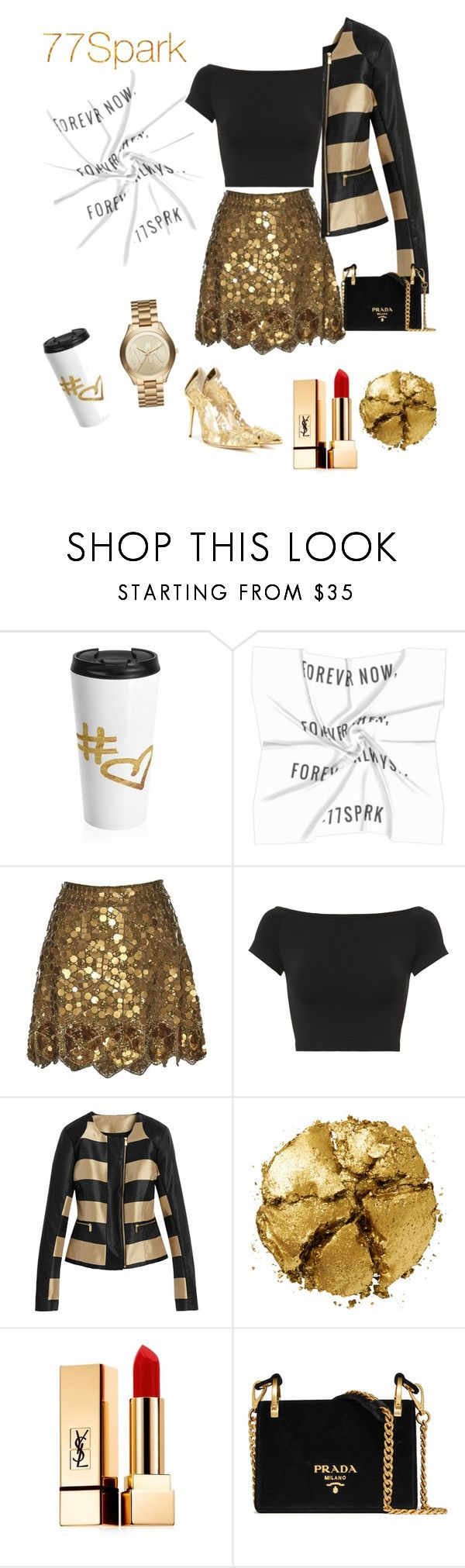 """Trending: Cute Scarselli by 7/7 Spark"" by elysab ❤ liked on Polyvore featuring Matthew Williamson, Helmut Lang, Oscar de la Renta, Pat McGrath, Yves Saint Laurent, Prada and Michael Kors"