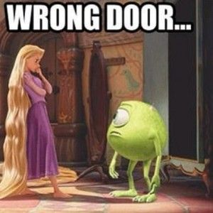 "Rapunzel's is all like "" put that thing back where it came from, or so help me!"""
