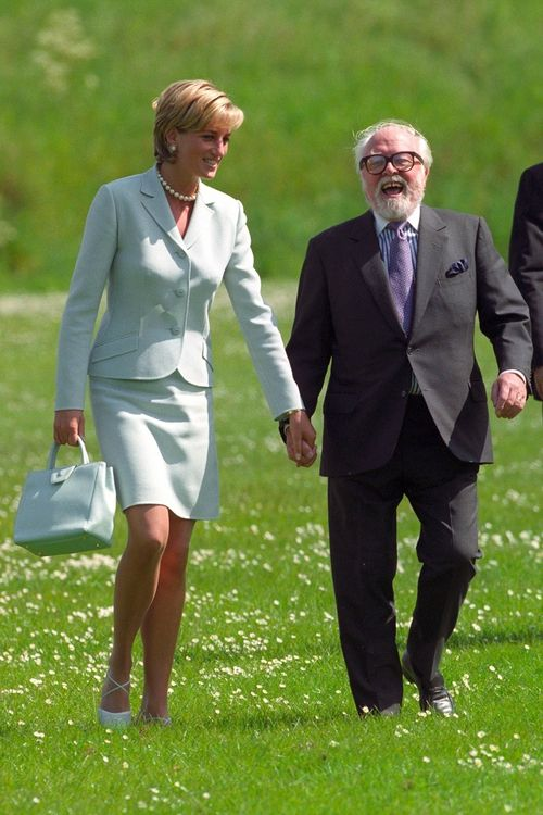 notesonaprincess:  Diana, Princess of Wales and Sir Richard Attenborough holding hands