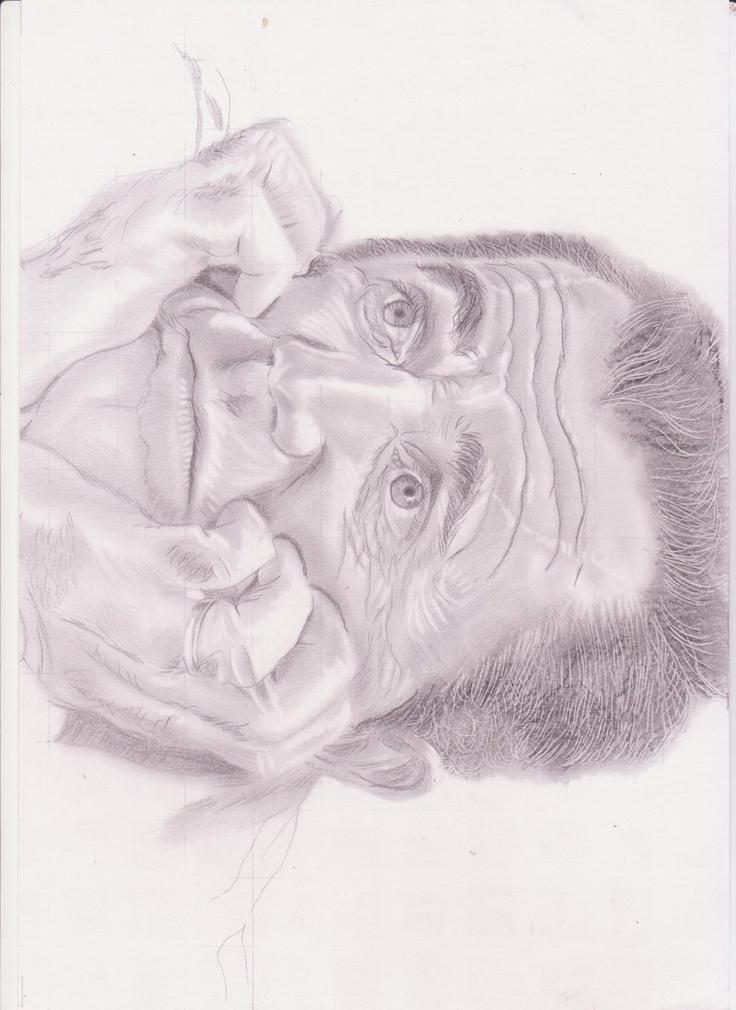 Sketsa Pencil Wajah Mel Gibson by SiOmArif.deviantart.com on @deviantART