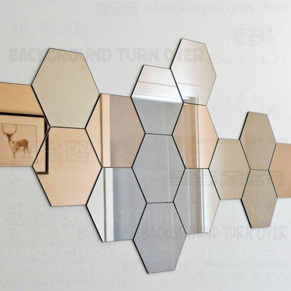 7 Miroirs Hexagone Wall Decor Stickers 3d Fonction Diy C Est Produit Bricolage Selon Les Rendus Ou Vos Propres Miroir A Coller Decoration Murale Miroir