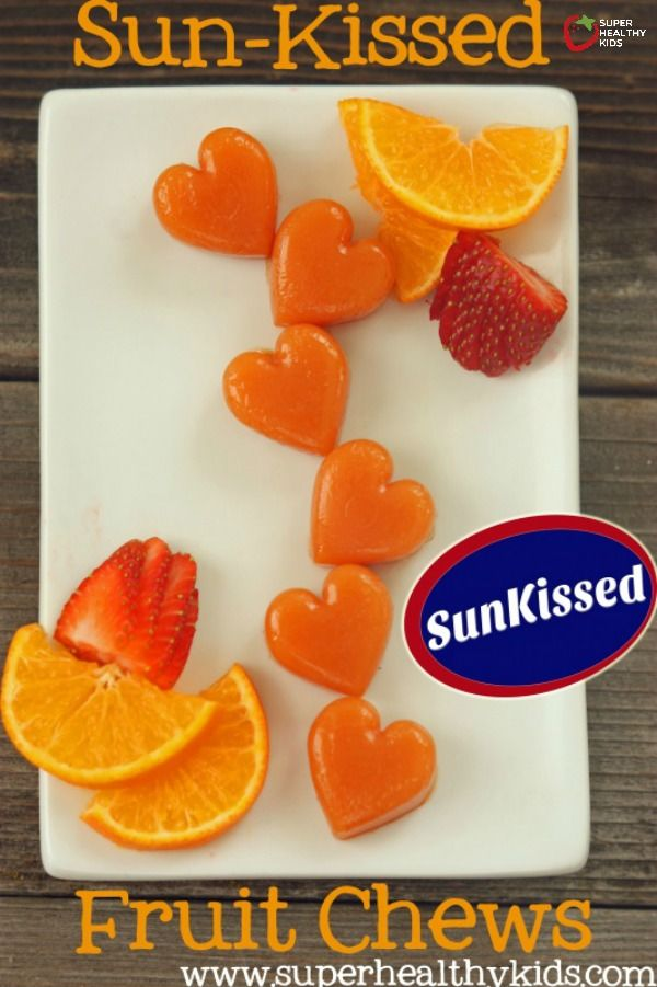 Sun-Kissed Fruit Chews Recipe {100% Fruit} - Warning: You'll never buy fruit snacks from the store again! http://www.superhealthykids.com/sun-kissed-fruit-chews-100-fruit/