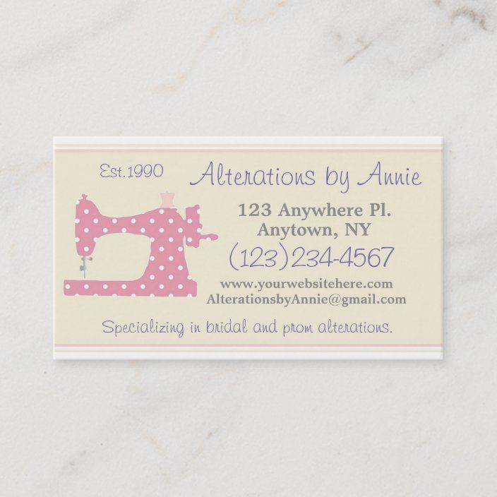 Sewing Machine Tailor Seamstress Business Card Zazzle Com Retro Business Card Retro Business Card Design Business Cards Retro