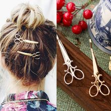 2 Sztuk Odzieży Kobiet Indywidualność Nożyczki Wzór Szpilka Barrettes Spinki Do Włosów Chluba Akcesoria Do Włosów Biżuteria(China (Mainland))