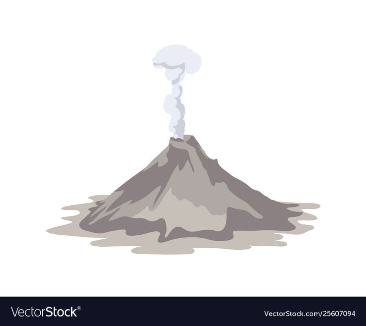 Volcanoes Graphic Natural Disasters Volcano Projects Volcano Drawing Cloud Vector