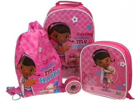 Nooit zonder je school of reisbenodigdheden met deze prachtige en stijlvolle Doc McStuffins bagage set!