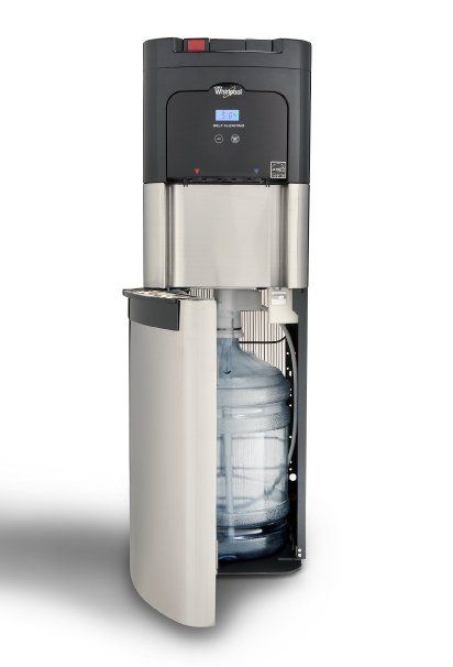 Whirlpool Self Cleaning, Bottom Loading Commercial Water Cooler, Digital Temperature Control, Ice Chilled Water, Steaming Hot, Energy Star, Full Stainless Steel Water Dispenser