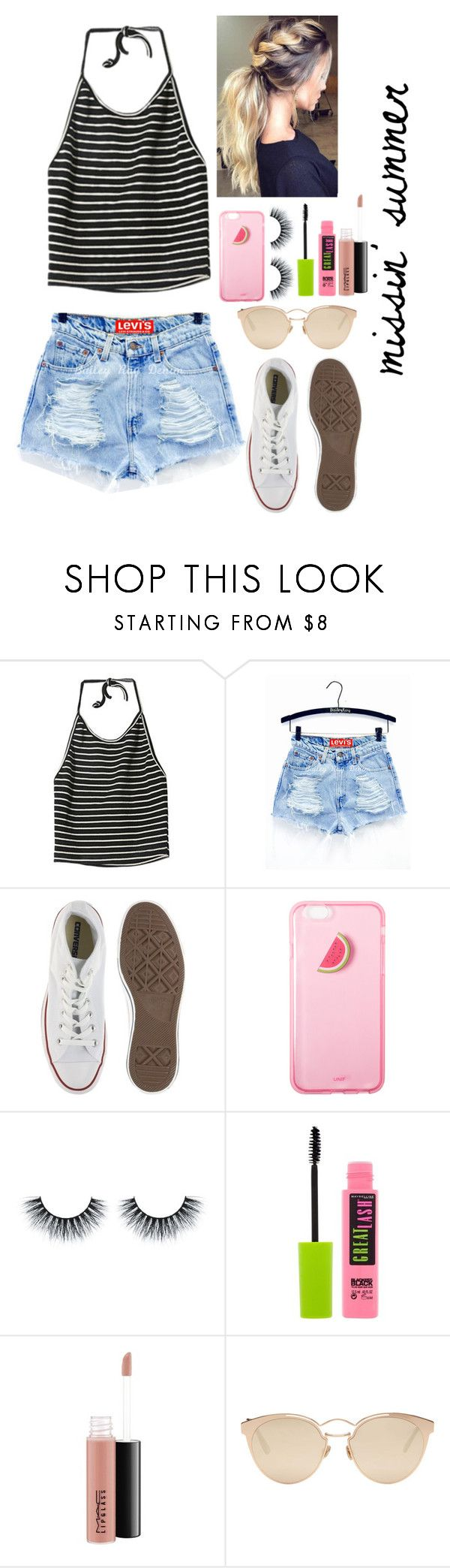 """""""Missing summertime"""" by gussied-up ❤ liked on Polyvore featuring StyleNanda, ASOS Curve, Maybelline, MAC Cosmetics and Christian Dior"""