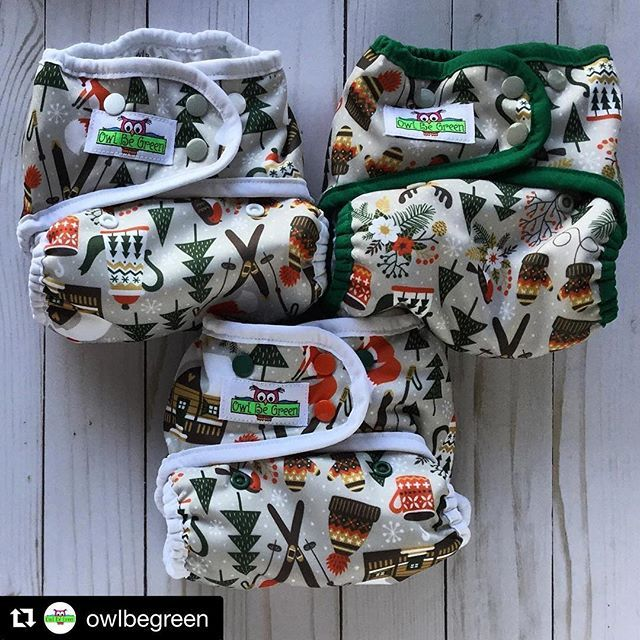 Fabric design by MirabellePrint, cloth diapers by Owl Be Green