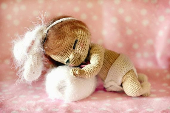 Crochet newborn Doll angel toddler doll Plush Doll Toy crochet