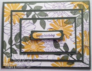 Stampin' Up Secret Garden Triple Time Stamping Card