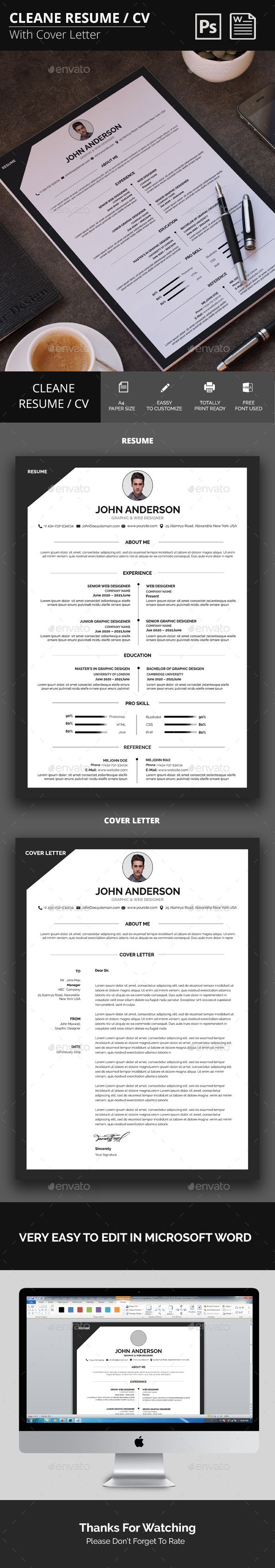 Resume_CV #black resume #resume template  • Download here → https://graphicriver.net/item/resume_cv/21400223?ref=pxcr