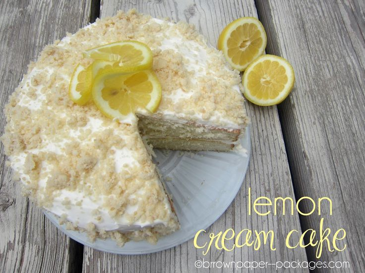 Lemon Cream CakeLemon Cake, Cake Brown, Brown Paper Packages, Food, Cream Cake Th, Simply Kierste, Lemon Cream, Cake Recipes, Brown Paper Packaging