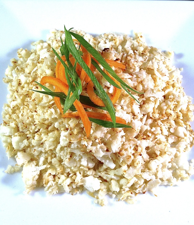 Cauliflower Rice - Makes approx 4 x servings. Total per serve (1 x cup). https://itunes.apple.com/app/clean-eating-recipes/id553771127